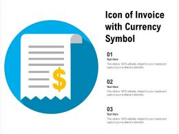 Icon Of Invoice With Currency Symbol