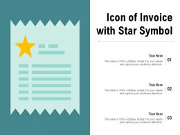Icon Of Invoice With Star Symbol