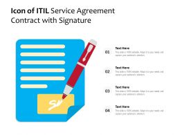 Icon Of ITIL Service Agreement Contract With Signature