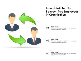 Icon Of Job Rotation Between Two Employees In Organisation