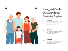 Icon Of Joint Family Showing Different Generation Together