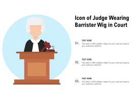 Icon Of Judge Wearing Barrister Wig In Court