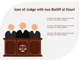 Icon Of Judge With Two Bailiff At Court