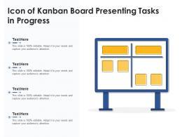 Icon Of Kanban Board Presenting Tasks In Progress