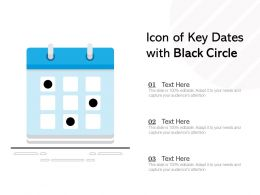 Icon Of Key Dates With Black Circle