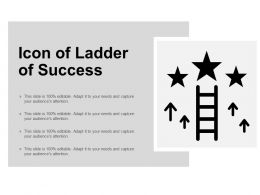 Icon Of Ladder Of Success