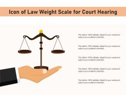 Icon Of Law Weight Scale For Court Hearing
