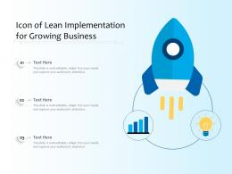 Icon Of Lean Implementation For Growing Business
