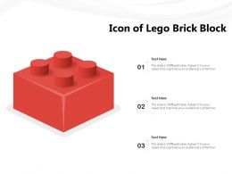 Icon Of Lego Brick Block