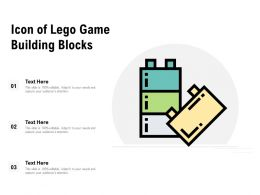 Icon Of Lego Game Building Blocks