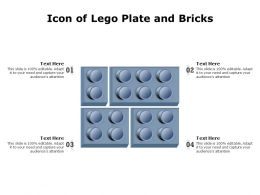 Icon Of Lego Plate And Bricks