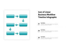 Icon Of Linear Business Workflow Timeline Infographic