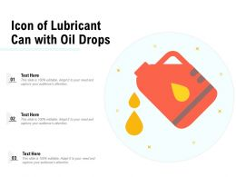 Icon Of Lubricant Can With Oil Drops