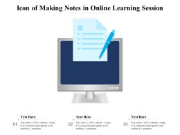 Icon Of Making Notes In Online Learning Session