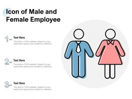 Icon Of Male And Female Employee