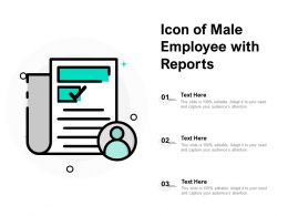 Icon Of Male Employee With Reports