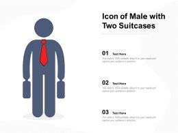 Icon Of Male With Two Suitcases