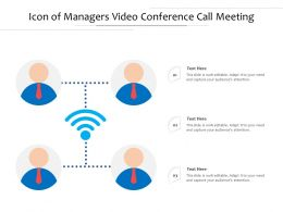 Icon Of Managers Video Conference Call Meeting