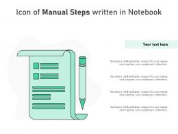Icon Of Manual Steps Written In Notebook