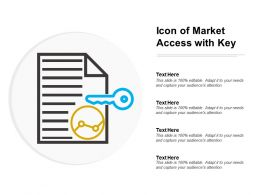 Icon Of Market Access With Key