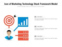 Icon Of Marketing Technology Stack Framework Model
