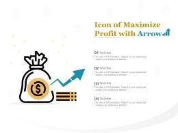 Icon Of Maximize Profit With Arrow