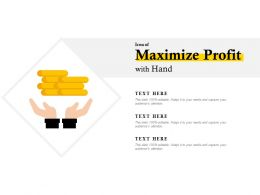 Icon Of Maximize Profit With Hand