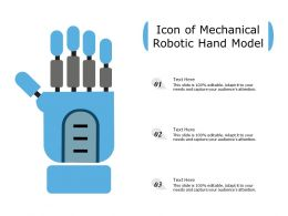 Icon Of Mechanical Robotic Hand Model
