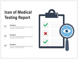 Icon Of Medical Testing Report