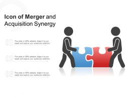 Icon Of Merger And Acquisition Synergy