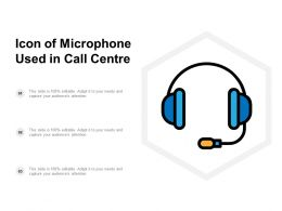 Icon Of Microphone Used In Call Centre