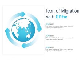 Icon Of Migration With Globe