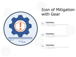 Icon Of Mitigation With Gear