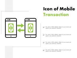 Icon Of Mobile Transaction