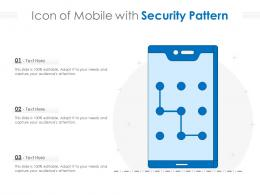 Icon Of Mobile With Security Pattern