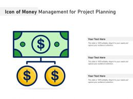 Icon Of Money Management For Project Planning