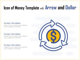 Icon Of Money Template With Arrow And Dollar
