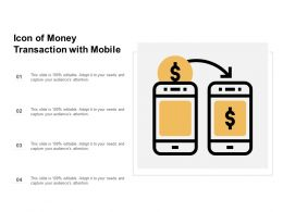 Icon Of Money Transaction With Mobile