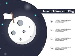Icon Of Moon With Flag
