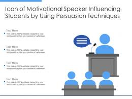 Icon Of Motivational Speaker Influencing Students By Using Persuasion Techniques