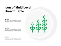 Icon Of Multi Level Growth Table