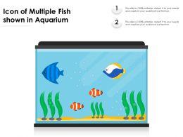 Icon Of Multiple Fish Shown In Aquarium