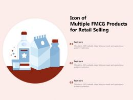 Icon Of Multiple FMCG Products For Retail Selling