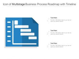 Icon Of Multistage Business Process Roadmap With Timeline