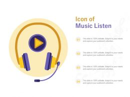 Icon Of Music Listen