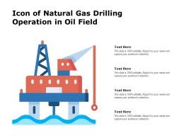 Icon Of Natural Gas Drilling Operation In Oil Field