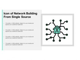 Icon Of Network Building From Single Source