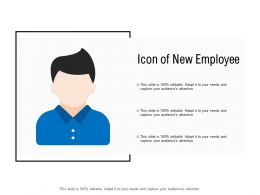 Icon Of New Employee