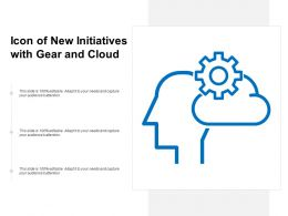 Icon Of New Initiatives With Gear And Cloud