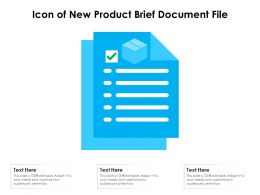 Icon Of New Product Brief Document File